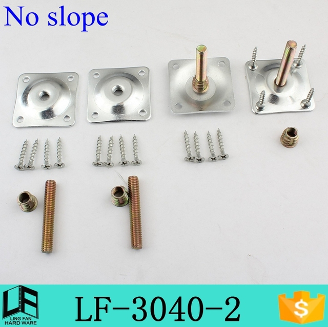 Furniture Hardware Table Leg Mounting Plate Angle No Slope Hanger Matching Nut Lf 3040 2 1