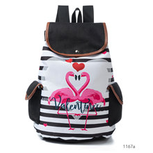 new animal printing canvas backpack brand lady fashion casual leisure striped student college school book bag