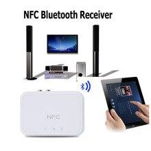 NFC Sem Fio Bluetooth Receptor De Áudio 4.1 Adaptador Bluetooth NFC Portátil-Enabled 3.5mm RCA Estéreo Música Som Do Carro TV falante
