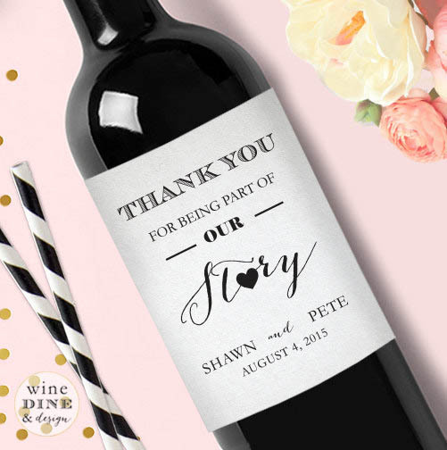Personalised Keep Calm And Drink Wine Bottle Label Labels: Customized Thank You Wedding Personalized Wine Bottle