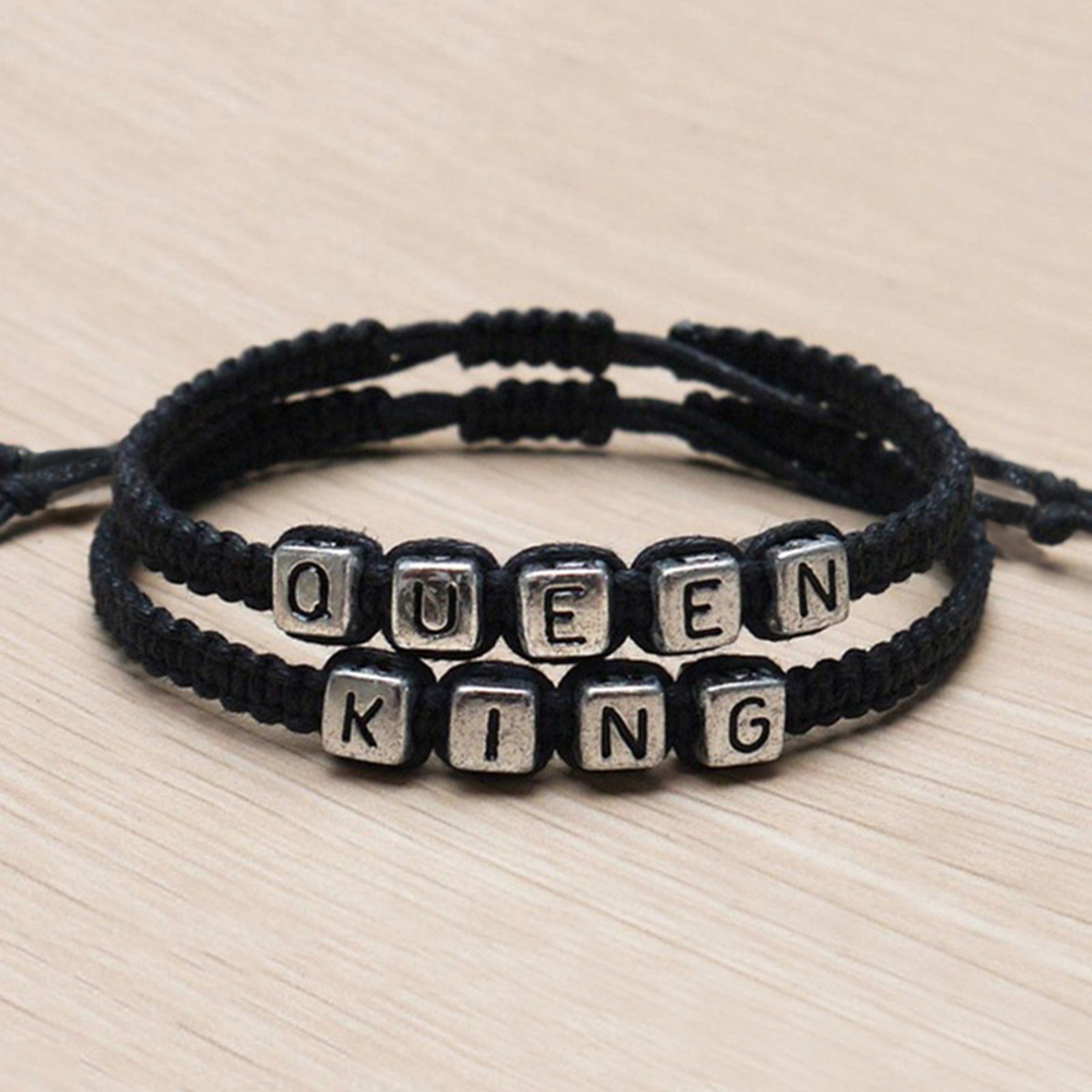 Men Women King and Queen Bracelet Hot Couples Bracelets Set ...