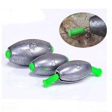 Plomb rapide plombs pêche leurre accessoires Olive en forme de passe moyen conduit mer bateau Rafting tige pièces 3 55g 1 5 pièces sac