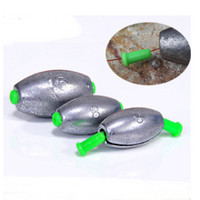 Quick Lead Sinker Fishing Lure Accessories Olive Shaped Middle Pass leads Sea Boat Rafting Rod Parts 3 55g  1 5 Pieces Bag