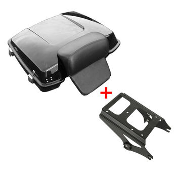 Motorcycle Razor Pack Trunk & Mounting Rack For Harley Tour Pak Touring Road King Electra Street Glide FLHX FLTR FLTRX motorcycle king pack latches for harley tour pak touring models electra road street glide 2006 2013