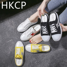 HKCP Fashion Women wearing baotou slippers summer spring 2019 all-in-one Korean version breathable leisure C381