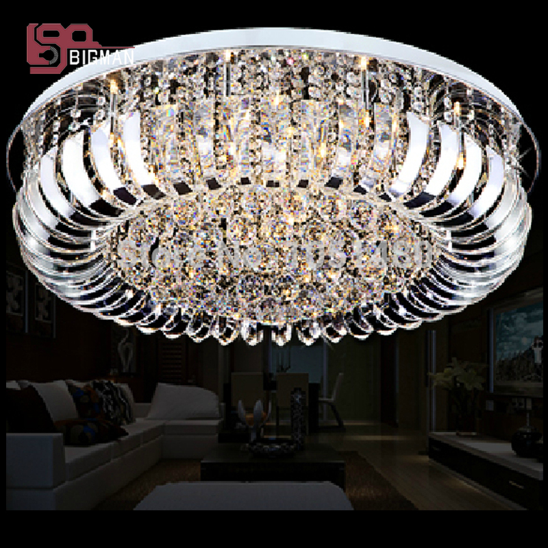 Free shipping new modern crystal lamp flush mount ceiling lights Dia800mm home lighting fixtures