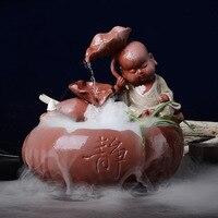 Работает фонтан декоративная керамика Творческий дом распыления увлажнитель статуя Будды открыт свадебный подарок