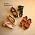 Металлическая пряжка принцесса одиночные shoes дети высокие каблуки случайные shoes для девочек 2017 весна дети мода shoes три цвета партии