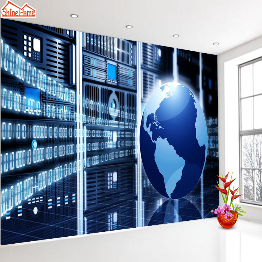 ShineHome-High Technology Science Earth Room Background Wallpapers Rolls 3d Wallpaper for Walls 3 d Livingroom Office Paper озонатор бытовой days of science and technology tm017 5g h