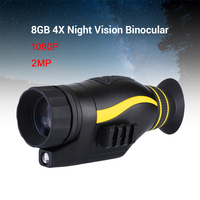 BOBLOV 4X35 Infrared Night Vision Monocular infrared Digital Scope Hunting Telescope long range with built in 16GB Card Camera
