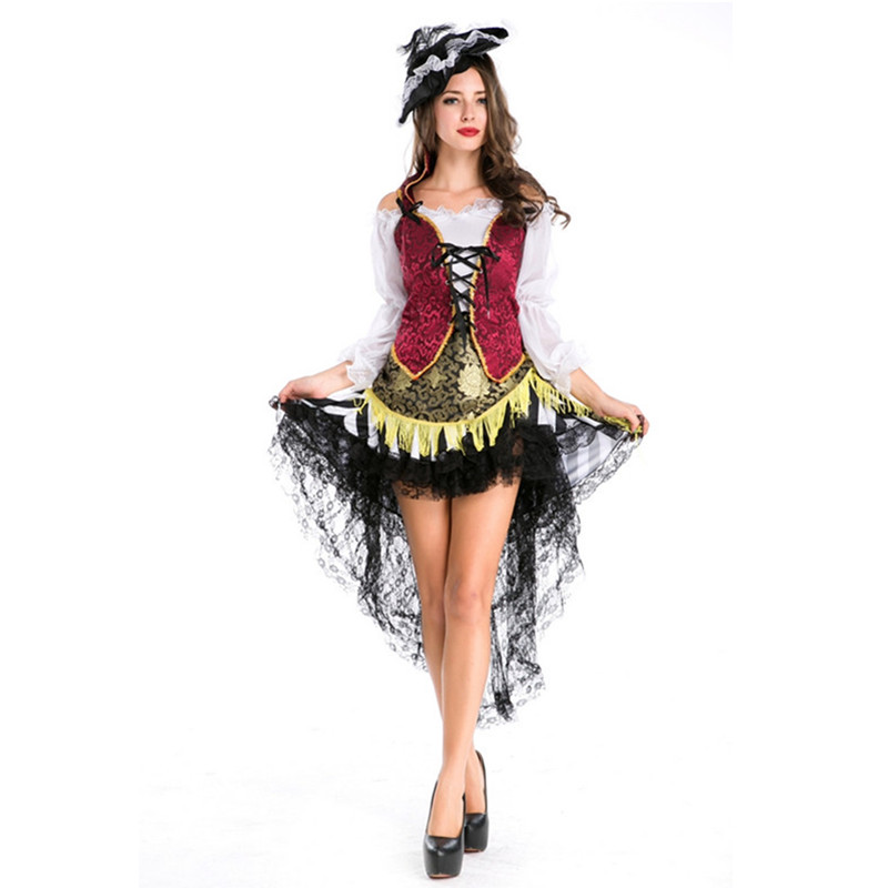 Novelty & Special Use Womens Night Clubwear Party Pirate Costume Pirate Halloween Uniform Fancy Pirate Dress Outfit Plus Size Reliable Performance