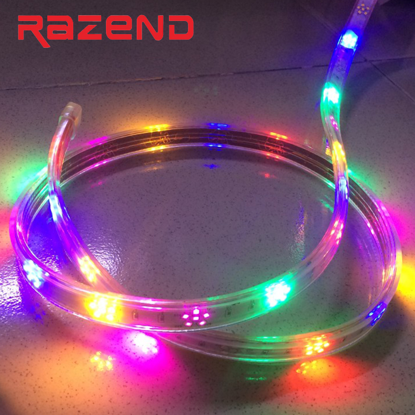 Waterproof Horse Race LED Strip 220V 2835 120Leds/m Plum Xmas Decorative Rope Light Red  ...