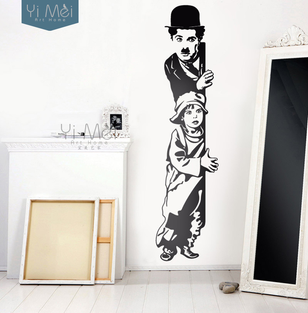 Home decorative vinilos decorativos chaplin the kid vinyl wall sticker home decor