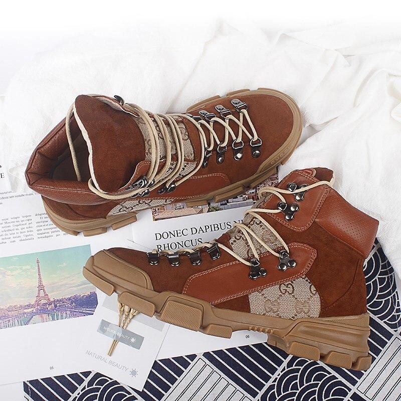 Lujo 19ss Botas Decoración Show Metal Fondo Tobillo Antideslizante Color Escalada As Zapatos Suave Mezclado Grueso Plataforma De Mujer g5rw5qA