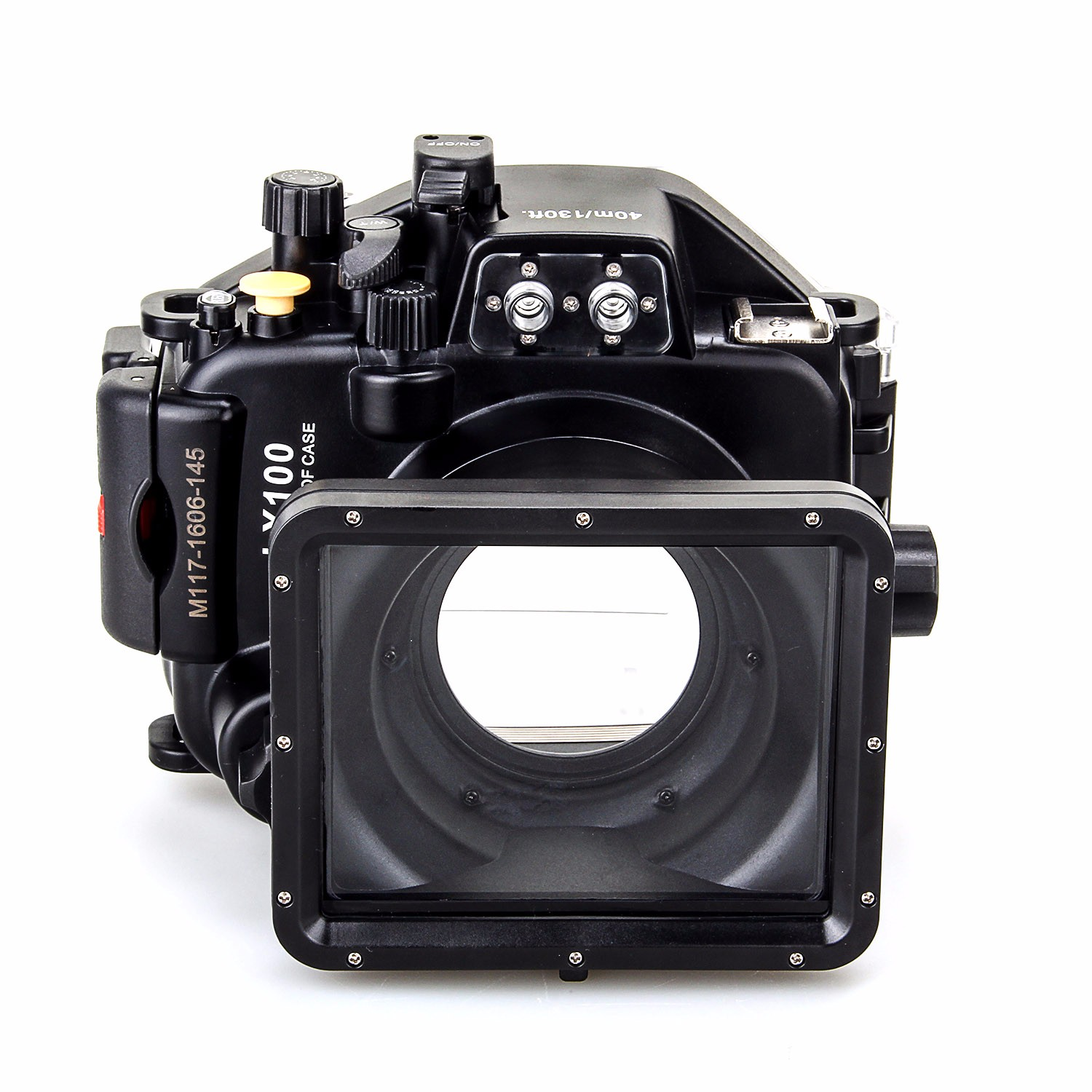 40M/130ft Underwater Housing for Panasonic Lumix LX100 with 27-75mm Lens meikon 40m wp dc44 waterproof underwater housing case 40m 130ft for canon g1x camera 18 as wp dc44
