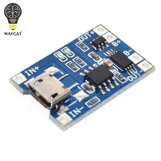 Умная электроника В 5 в Micro USB 1A 18650 литиевая батарея зарядки доска с защитой зарядное устройство модуль для Arduino Diy Kit