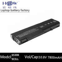 HSW batterie d'ordinateur portable pour HP ProBook 6550b ProBook 6555b pour Hp Compaq Business Notebook 6530b 6535B 6730B 6735B 5200 mah 9 cellules