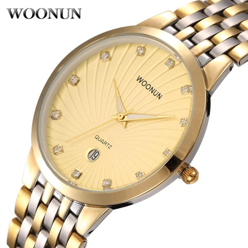 WONUN Muški satovi Top Brand Luksuzni Zlatni satovi Muškarci Tanki - Muški satovi