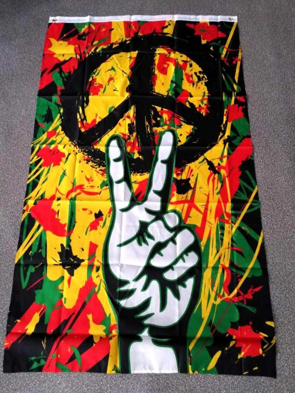 Detail feedback questions about johnin 90150cm rasta peace grafitti flag on aliexpress com alibaba group