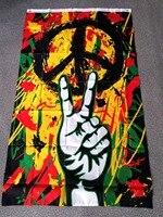 Флаг Rasta Peace Grafitti, 90*150 см