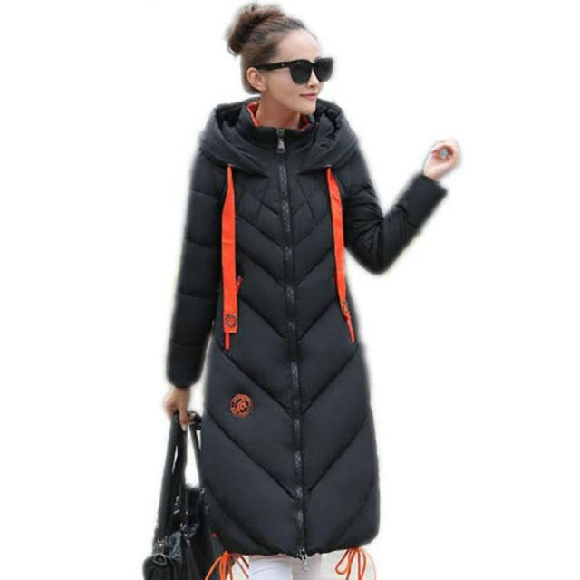 Windbreaker Winter Women Long coat thicker down jacket warm clothes Parka 2016 Fashion