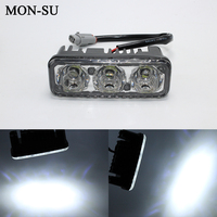 MON SU Car High Power LED Waterproof Daytime Running Lights With Lens DC12V General Super Bright