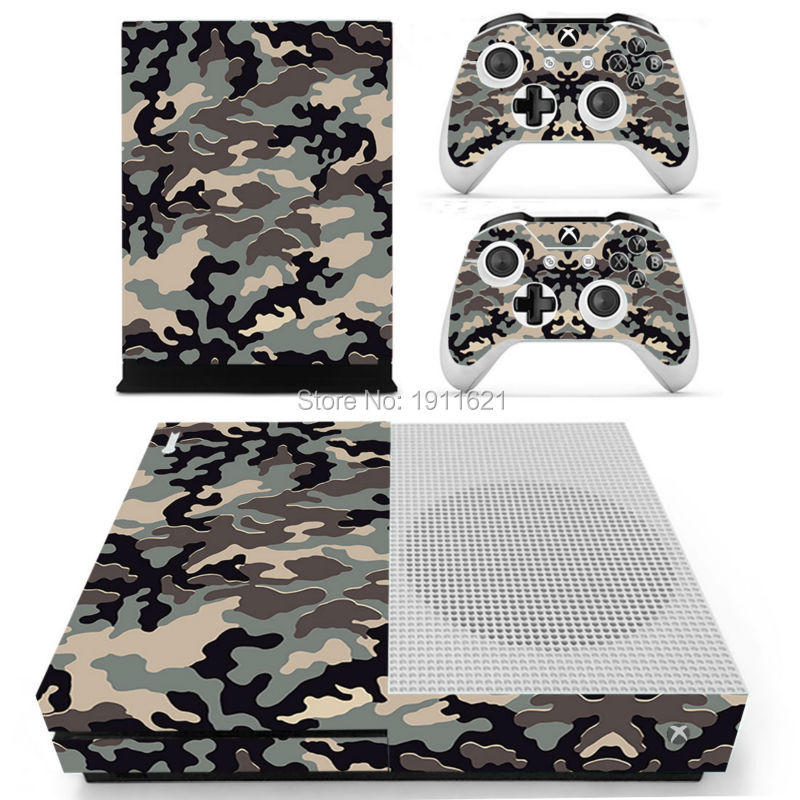Protective vinyl sticker for Xbox one slim console and 2 controllers skin Video Games