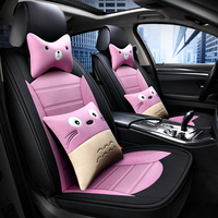 Cute cartoon car seat cover Synthetic Fiber Interior Accessories for Toyota corolla pius avensis c hr rav4 land cruiser