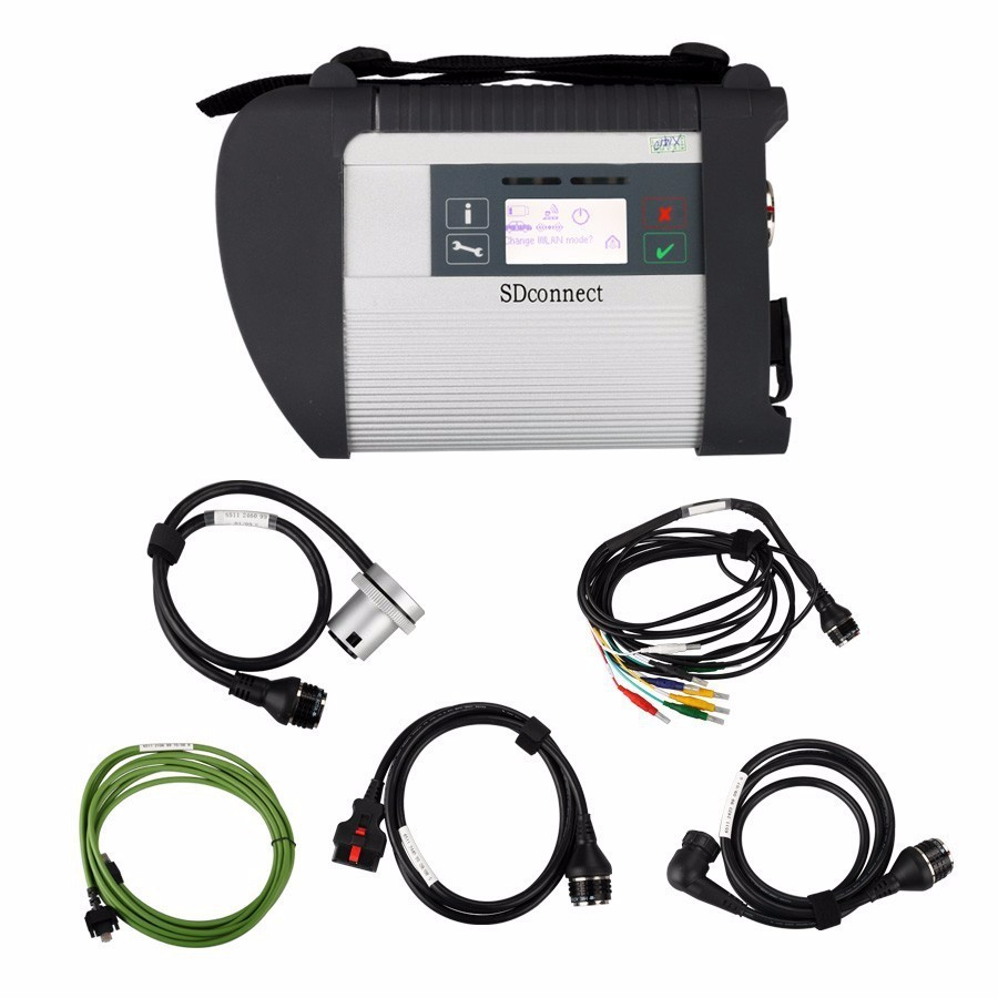 Top-Quality Mb Star C4 SD Connect Multiplexer with 5 cables for Car& Trucks onnect C4 Scan