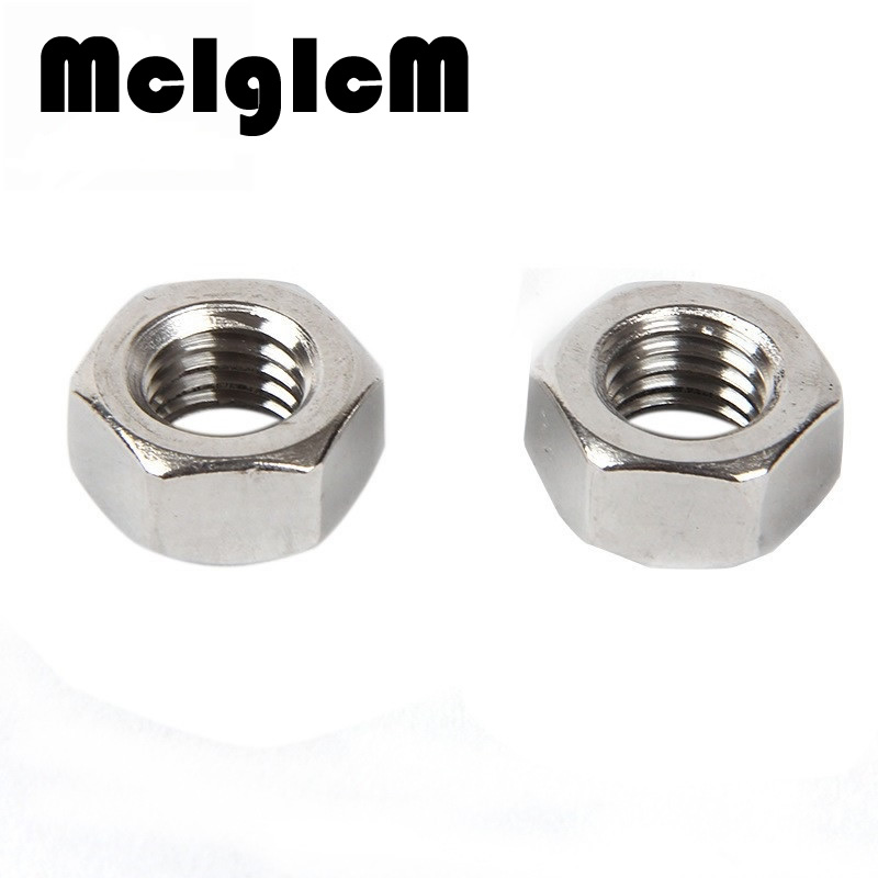 H054  50Pcs DIN934 Stainless Steel Hex Nut Hexagon Nuts HW009 M2 M2.5 M3 M4 M5 M6 M8 M10 304