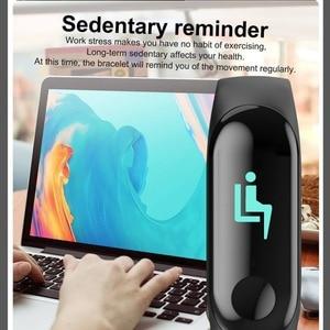 Image 5 - 2019 Smart Sport Armband Armband Blutdruck Herz Rate Monitor Pedometer Smart Uhr männer Für Android iOS