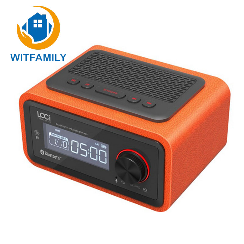 Wireless Free Alarm Setting FM Radio Function Bluetooth Plug in Speaker Portable Multimedia Small Stereo Subwoofer
