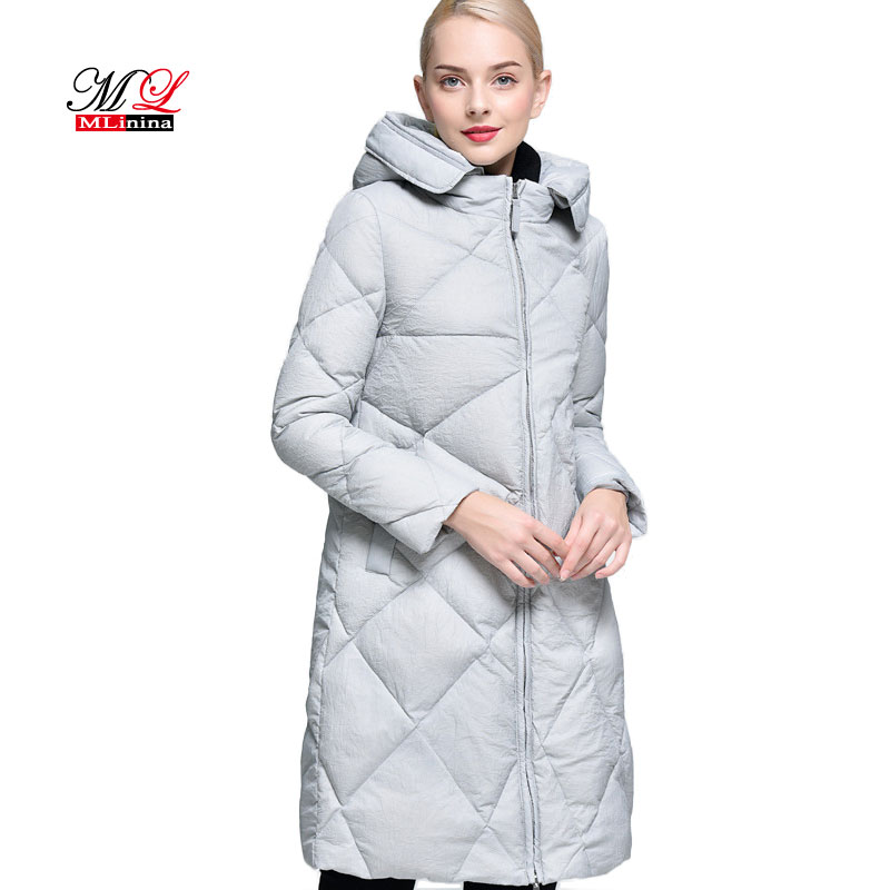 MLinina 2018 New Winter Womens Coats Down Thickening Jacket And Coat For Women High Quality   Parka   Slim Solid Long Down Jackets
