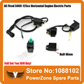 Ignition Coil + CDI UNIT + Half-Wave Rectifier Regulator + Solenoid Relay 110cc 125cc 140cc Pit Bike Dirt Bike Quad ATV Buggy