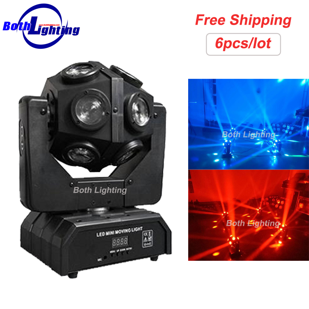 Stage Light DMX512 12*10W RGBW 4in1 LED Ball Moving Head Beam Light Mini Magic Football Moving head light