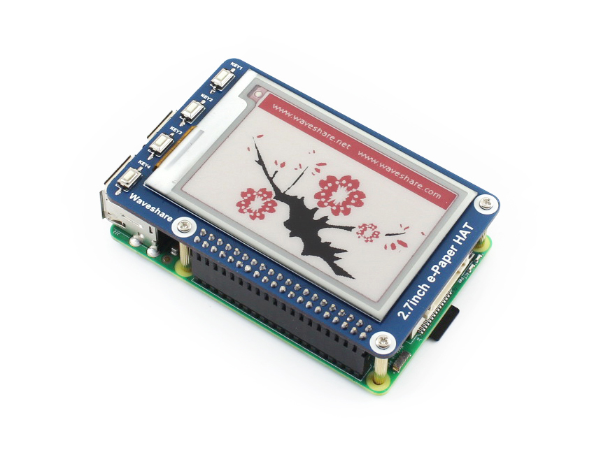 2.7''e-paper,264x176, 2.7inch E-Ink display HAT for Raspberry Pi 2B/3B/Zero/Zero W,Three-color: red, black, white, SPI Interface tango zarina black ct10 176 код2131