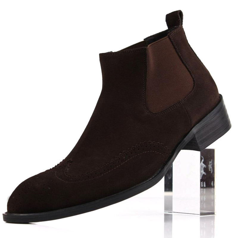 732c460b7d79c 2014 foreign trade boots leather high top boots men dress shoes foot  European version really fine cow leather boots pointed styl-in Men's  Costumes from ...