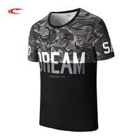 SAIQI High Quality Brand Casual Sport Tshirt Men Letter Print Cotton Short Sleeve Tops Gym Running Summer Tee 118461