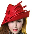Джун Молодой Damen-Hute Зимой Хижина Filzhut eleganter Хиёины mit Stein, Чмо Fedora шляпа