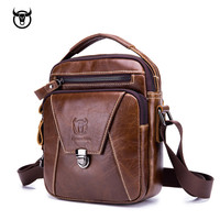 Genuine Leather Men's Messenger Bags quality Crossbody Bags Vintage cow leather man Shoulder bag for male Casual handbag