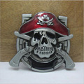 skull pirates belt buckle red Metal belt buckle Texas Fashion Mens Western Turbo Nos Tunning suitable for 4cm wideth belt