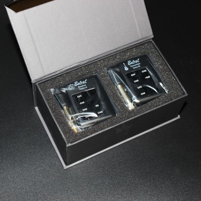 Darmowa wysyłka! Belact TWINS gitara bezprzewodowy nadajnik i odbiornik systemu gitara basowa gitara elektryczna przetworniki instrumentu akcesoria tanie i dobre opinie SunRhyme Radio transmitter receiver Electronic plastic
