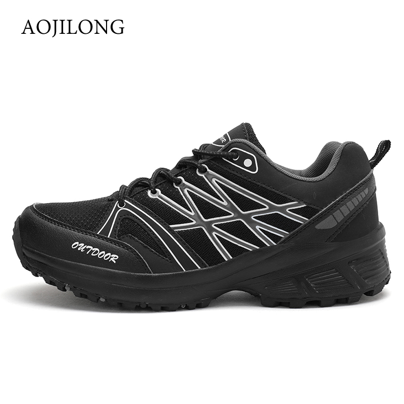MANLI New Outdoor Men's Hiking Shoes Men Running Shoes Walking Sneakers Comfortable Athletic Men For Sport Trail Shoes