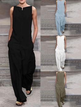 Women Jumpsuits Solid Color Summer New 2019 Casual Clothing