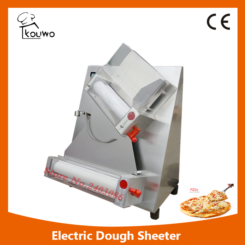 KW-2A  12 inch crust pizza base press making machine bread dough roller/sheeter machine for pizzeria shop electric pizza dough press machine for rolling dough dough sheet making machine