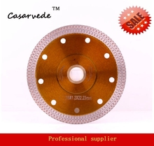 """free shipping 5"""" 125mm Sintered continuous rim turbo blade Diamond Cutting Blade for porcelain tile and ceramics"""