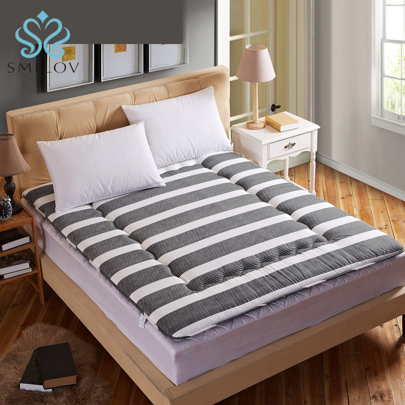 Smelov Tatami Mat luxury Foldable Thickened Double Floor Sleeping Mattress Back Protection Cushion Pad for Hotel Family Sleeping