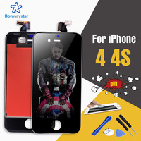 AAA Quality LCD Screen For Apple IPhone 4 4s Display Mobile Phone Parts Digitizer Add LCD