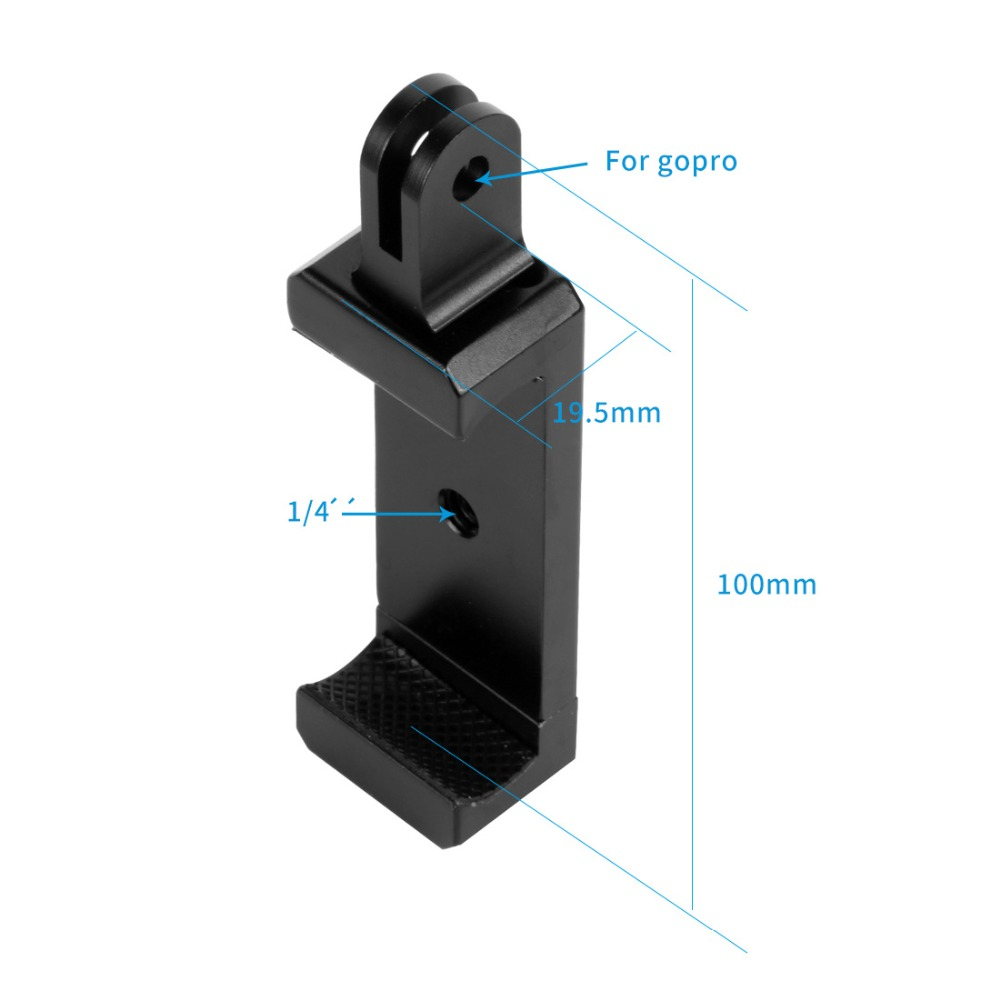Smartphone Stand Holder Clip Tripod Mount Adapter with 1 4 Hole Cold Shoe Mount for Phone for Gopro Action Camera in Sports Camcorder Cases from Consumer Electronics