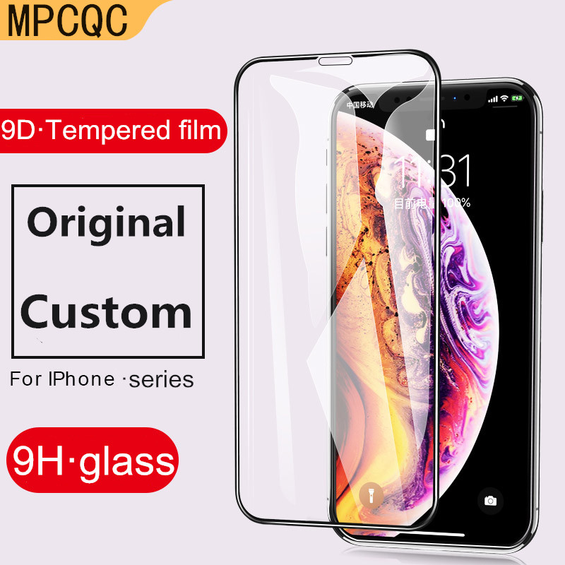 MPCQC 9D HD Protective Glass for iPhone 8 Screen Protector iPhone Xs Max XR Tempered Glass on iPhone X 6 6s 7 8 Plus Xs 9H Glass